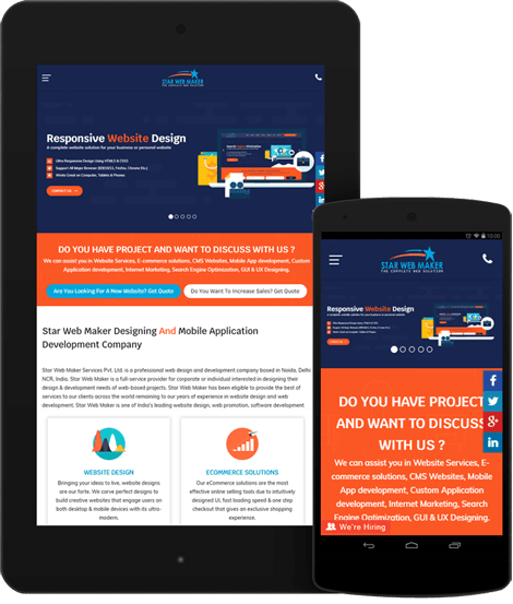 Responsive Mobile Website